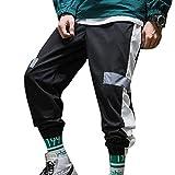 Uomo Cargo Casual Pantaloni Harem Hip Hop Striscia Stampe Jogging Pantaloni Moda...