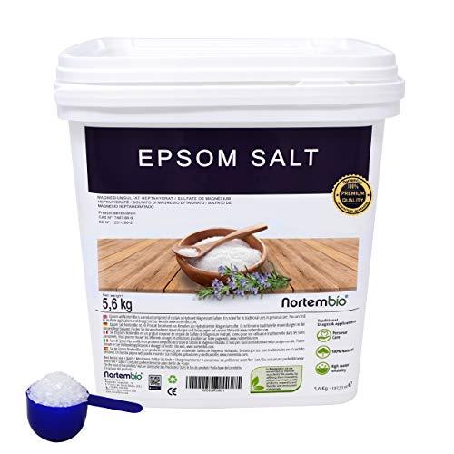 Epsom Salz NortemBio 5,6kg, Konzentrierte Magnesiumquelle, 100% Natürliches Salz. Bad und Körperpflege. - Therapie Salz Natürliche