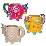 Baker Ross- Tazas de porcelana con unicornio (Pack de 2) - Actividad de manualidades infantiles para decorar y pintar