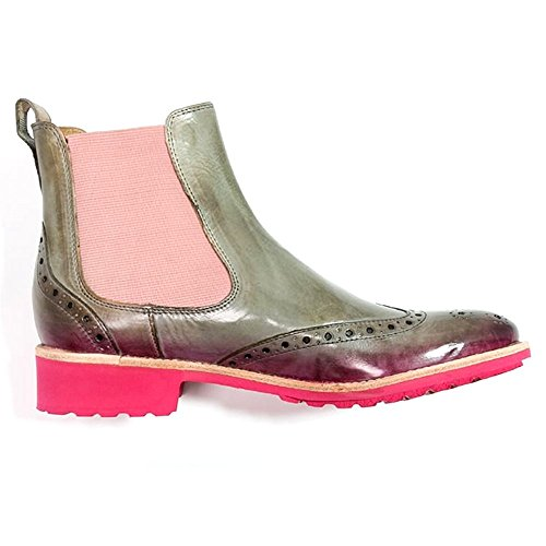 Melvin & Hamilton Amelie 5 Crust New Sand/Shade Fuxia, Bottes pour Femme New Sand/Fuxia/Rose