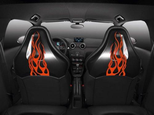 Classic Car Muscle e pubblicità e auto Hot Rod, Audi A1 (2010) Concept-Art-Stampa su carta satinata, 10 mil Archival interno Closeup View, colore: nero, Carta, Black Interior Seat Closeup View, 40,6 x 30,5 cm