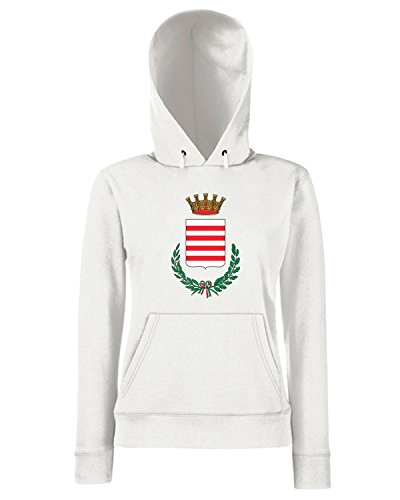 T-Shirtshock - Sweats a capuche Femme TM0073 Comune di Barletta Citt della Disfida citta Blanc