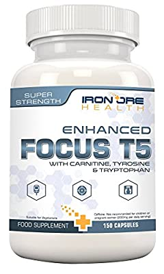 FOCUS T5 Fat Burner | Train Harder - Work Longer - Achieve Your Goals | Premium Quality T5 Supplement from Iron Ore Health from Calibre Nutrition