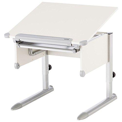 Kettler Kinderschreibtisch Little – 6-fach höhenverstellbarer Schreibtisch mit neigbarer Tischplatte – idealer Schreibtisch für Schulkinder – mitwachsender Schreibtisch