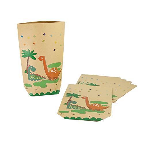 Oblique Unique® Dino Geschenktüten 6 STK. Dinosaurier Papiertüten für Kinder Geburtstag Party Feier