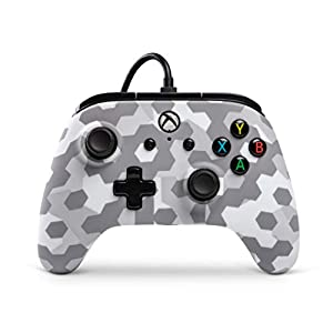 PowerA Wired Controller Officially Licensed by Microsoft Compatible with Xbox One, Xbox One S, Xbox One X & Windows 10 - Arctic Frost Camo