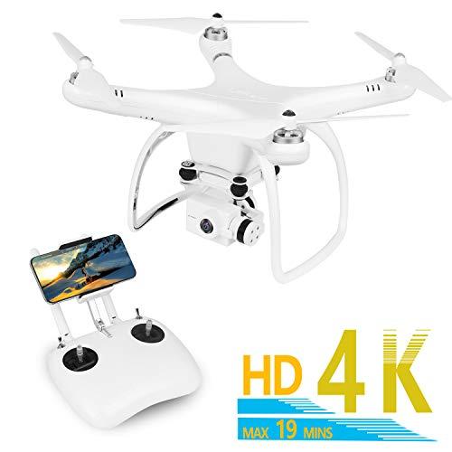 UPAIR GPS FPV Drohne mit 4K HD Kamera, 5G WFIY RC Quadrocopter, APP/IOS Bewerbung Follow me Funktion, Live Video Übertragung mit 120° Weitwinkel, Kopflos Modus,one Key Start / Landung, Not-Aus.