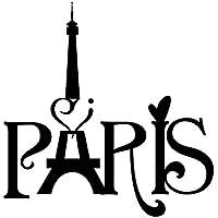 QHGstore Torre Eiffel Parigi Amore arte del vinile Citazioni Wall Stickers casa murale della decalcomania della