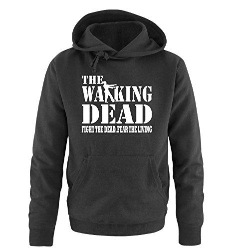 Comedy Shirts - THE WALKING DEAD - FIGHT THE DEAD - Herren Hoodie in Schwarz / Weiss Gr. XXL (Rick Grimes Hat)