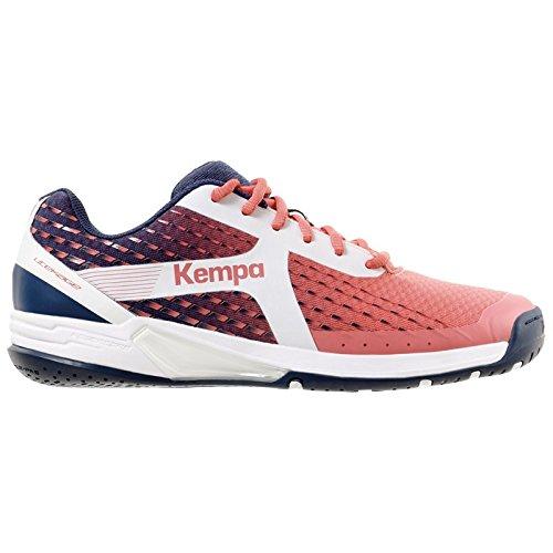 Kempa Wing Women, Zapatillas de Balonmano Para Niñas, Multicolor (Berry/Azul Marino/Blanco 000), 39 EU Kempa