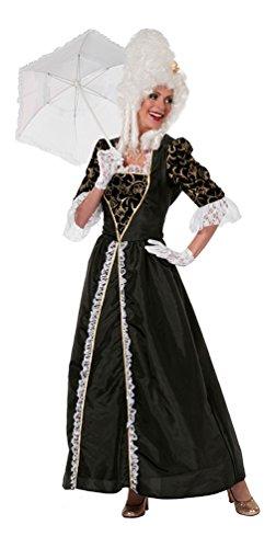 Karneval-Klamotten Viktorianisches Damen-Kostüm schwarz Barock Kostüm Damen Renaissance Marquise...