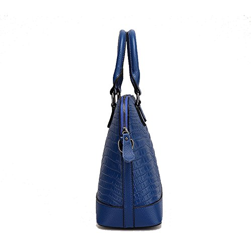 Borsa A Tracolla In Pelle Moda Zuniyamama Per Donna Marrone Blu
