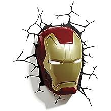 Lansay 10151 - Lampada decorativa a forma di maschera di Iron Man