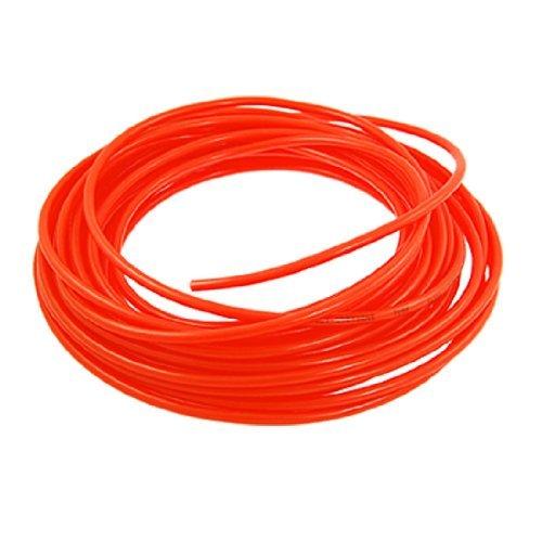 Tuyau Polyuréthane Air Epaisseur Mur Orange Rouge 6mm OD 4mm ID 1mm 15m