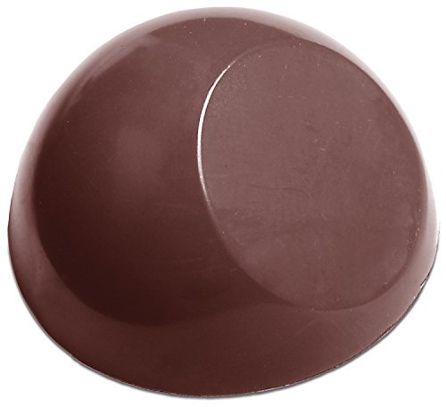 Chocolate World Flat Sided Dome Chocolate Mold, 21 Forms by U Chocolate for the (Form Dome)