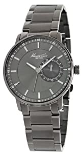 Reloj Kenneth Cole KC9030 de cuarzo para hombre con correa de acero inoxidable, color gris de Kenneth Cole