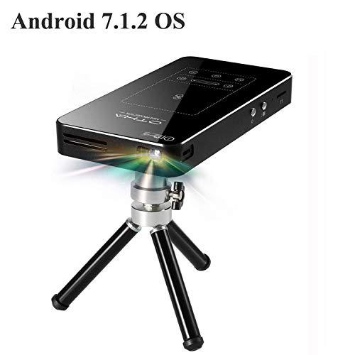Projektor OTHA Mini Beamer, Akkulaufzeit bis zu 35000 Tragbarer Projektor mit Touchpad unterstützt 1080P Full HD