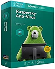Kaspersky Anti-Virus Latest Version - 1 PC, 3 Years (No CD Key Cards Only)