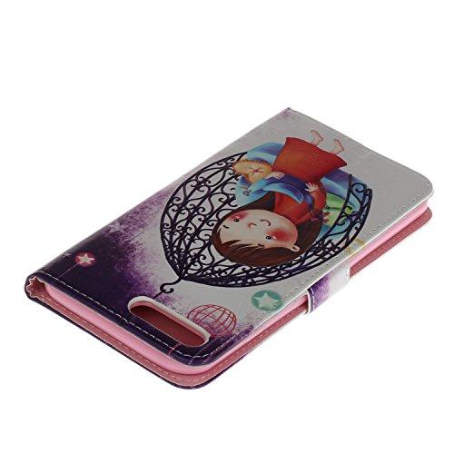 Voguecase Pour Apple iPhone 7 Plus 5,5 Coque, Étui en cuir synthétique chic avec fonction support pratique pour iPhone 7 Plus 5,5 (Love plume 01)de Gratuit stylet l'écran aléatoire universelle petite fille 03