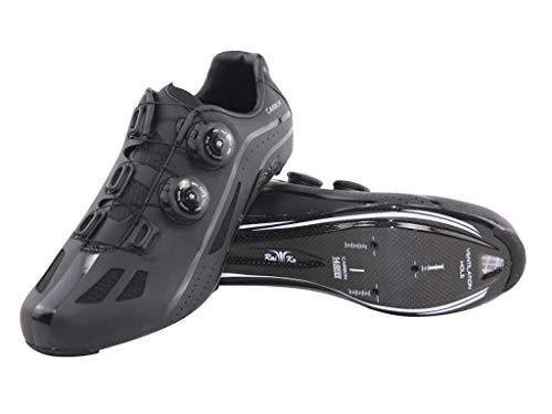 Raiko Sportswear HP1 Rennradschuhe Carbonsohle SPD-SL/Look Klickpedale Drehverschluss schwarz Größe 45