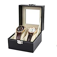 Esoes Watch Box Elegant Leather Watch Storage Box Storage for Wristwatches Jewellery Bracelet Collections (A)