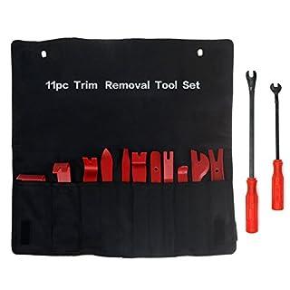 YIAN 13tlg Auto Innen Verkleidung Demontage Cliplöser Auto Trim Entferner Werkzeuge Kit-Einsatz auf Türverkleidungen, Polster, Zierleisten, Leisten