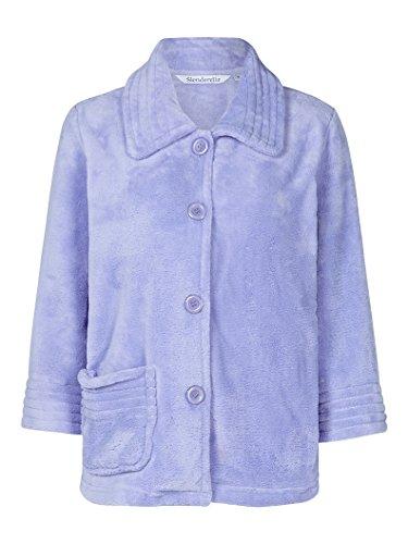 Slenderrella Veste de Pyjama 3/4 en Laine Polaire - Bleu BJ6300 Medium