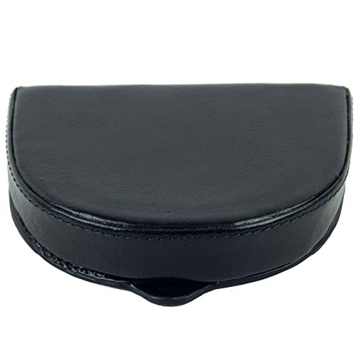 Mens Gents Top Quality LEATHER Coin Tray by Golunski Purse Wallet 2 colours  (Black)