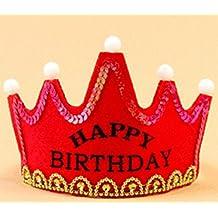 Blue Bridge Sombrero Intermitente del Sombrero del cumpleaños del LED Fuentes del Partido de la Corona