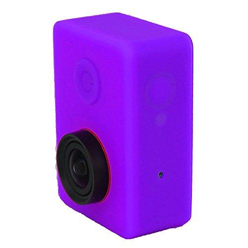 Preisvergleich Produktbild Weiche Silikon-Kasten-Haut mit Objektivabdeckung für XIAOMI Yi-Action-Kamera Lila