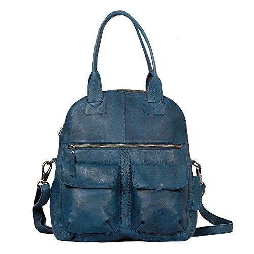Vilenca Holland  40675 Grau, Cabas pour femme noir Schwarz 39x35x9cm (LxHxB) bleu
