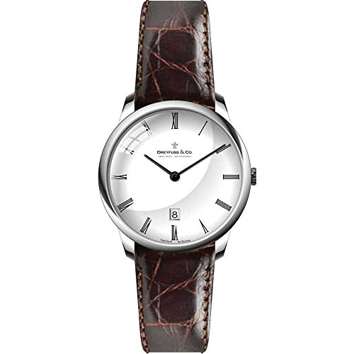 Dreyfuss and Co DLS00135-01 Ladies 1980 Brown Leather Strap Watch