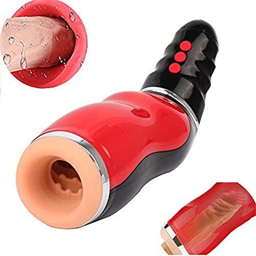 XSEXO Ventosa di aspirazione Elettrico Automatico Tazza Maschio Potente per stimolazione intensa Vari lamenti Femminili + 10 modalità di Vibrazione Vibrazione di Orale Orgasmo Giocattolo Realistico