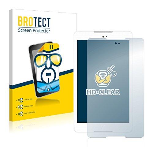 BROTECT Schutzfolie kompatibel mit BQ Aquaris M8 [2er Pack] klare Bildschirmschutz-Folie