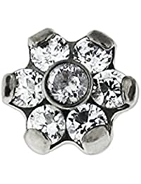 de7236bc9 7 CZ Stones Flower G23 Grade Titanium Top Micro Dermal Anchor Jewellery