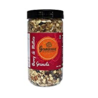 Graminway Berry & Millet Granola Cereal for Healthy Breakfast| Gluten Free Crunchy Muelsi Cereals (300 Grams) - Pack of 1