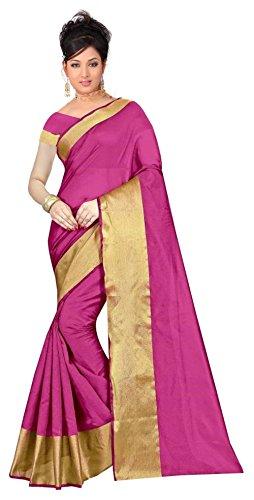 VK Trendz Fab Women's Cotton Silk Saree With Blousepiece