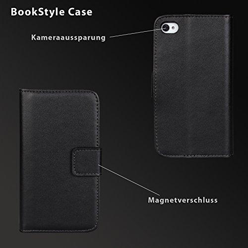 eximmobile Premium-Book Style Case Housse pour Apple iPhone + Film blindé