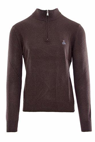 Lancetti uomo maglione zip cashmere 2370lc20 xxl marrone