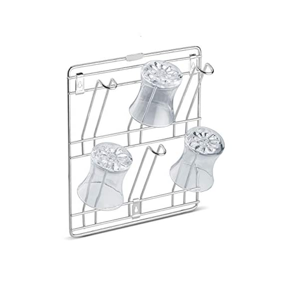 INVOSS Stainless Steel Wall Mounting Glass Holder/Tumbler Holder for Kitchen / 6 Glass Storage Wall Hanging Glass Stand (25cm X 25cm X 10cm)