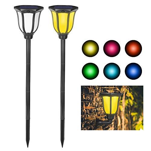 Solarleuchte Garten Torch LED Wegeleuchten Solar Wegbeleuchtung Gartenbeleuchtung Gartenleuchten Wasserdicht Garten-Fackeln 2 Stück Allerheiligen Halloween Weinachten ()