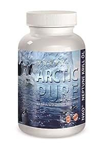 Huile de Krill 120 Capsules d'origine NKO Neptune Huile de Krill oméga-3 capsules astaxanthine, antioxydants Omega 3 Arctique pur