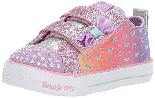 Skechers Shuffle Lite, Scarpe da Ginnastica Bambina, Multicolore (Lavender Multi Lvmt), 22 EU