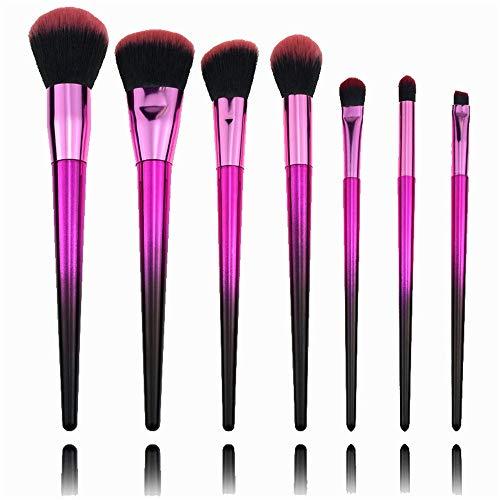 Yinglihua Make-up-Pinsel Professionelle 7-teilige Make-up Pinsel Set Flüssige Grundierung Lidschatten Lippenpinsel Werkzeug for Maskerade Partygebrauch Multi-Funktions-Bürsten-Satz