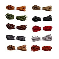CozofLuv 50m Leather Cord String for Bracelet Necklace Beading Jewelry DIY Handmade Crafts (3 mm x 5 m Each roll)
