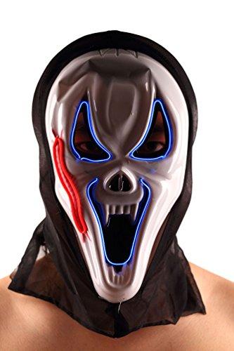 Brinny EL Wire Drahtmaske Leuchten Maske LED Leucht Leuchtmaske Make Up Partymaske mit Batterie Box Kostüme Mask Weihnachten Tanzen Party Nacht Pub Bar Klub (Vendetta Für Kostüm Damen V)