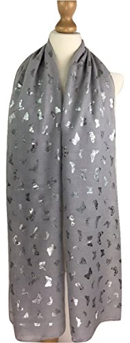 Isabelle Boutique - Fichu - Femme gris argenté