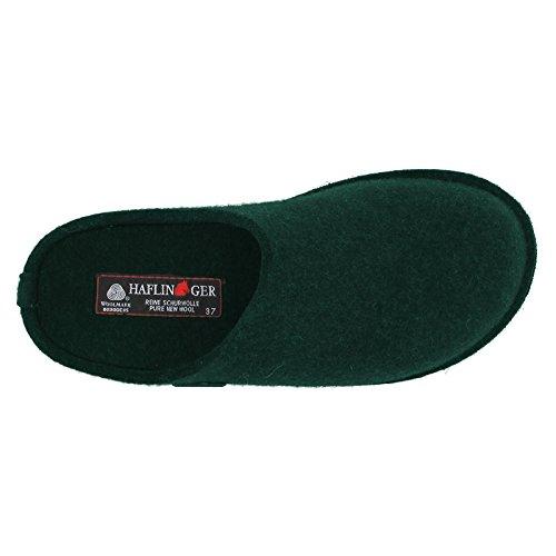 Sandales En Feutre De Laine Douce Haflinger Womens Flair Fir Green