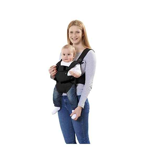 Mothercare Three Position Baby Carrier (Black) Mothercare Suitable from birth to a maximum weight of 12 kg 3-position carrier: front position facing in from birth, front position facing out from 3 months, from 6 months it can be worn on the back Removable Cushioned insert to provide added support and comfort for newborns 3