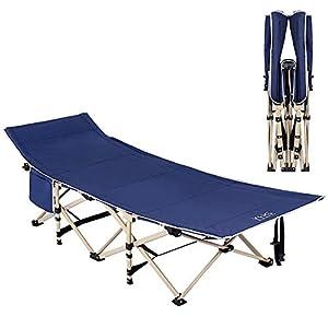 Ejoyous Campingbett, Feldbett, Metallrohr 190 cm x 71 cm x 47 cm – Belastbarkeit bis 250 kg